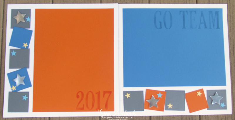 4x4 Scrapbooking Class Go Team You Are a Star sports layout Stampin Up school colors
