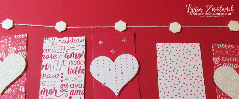 Valentine Scrapbook Layout Heart Banner double page spread Sending Love scrapbooking