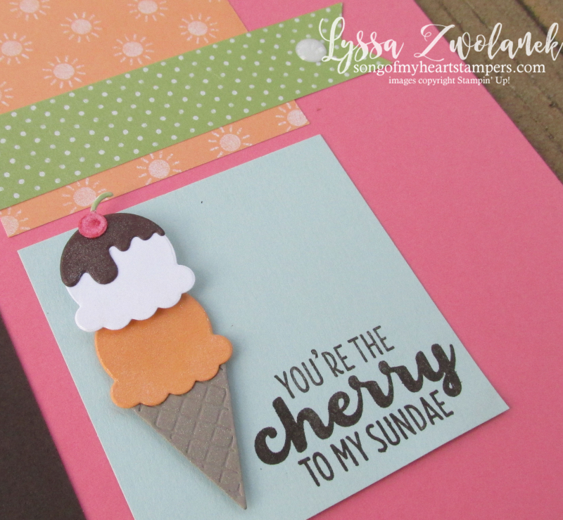 Tasty Cool Treats ice cream scrapbook pages layout stampin up