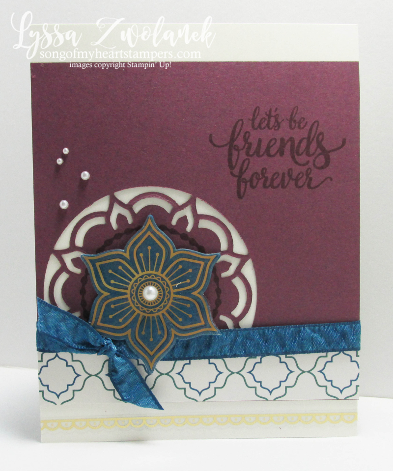 Eastern Palace Stampin Up new catalog preorder big shot medallion colors Lyssa song my heart