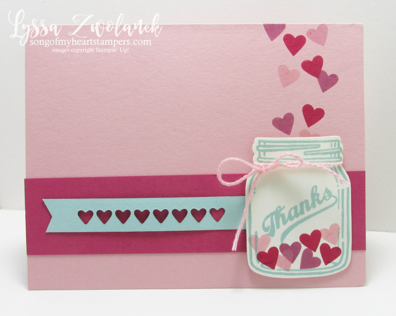 Jars of Love Everyday Mason Jar Craft Rubber Stamp hearts valentine Stampin Up Ball Lyssa