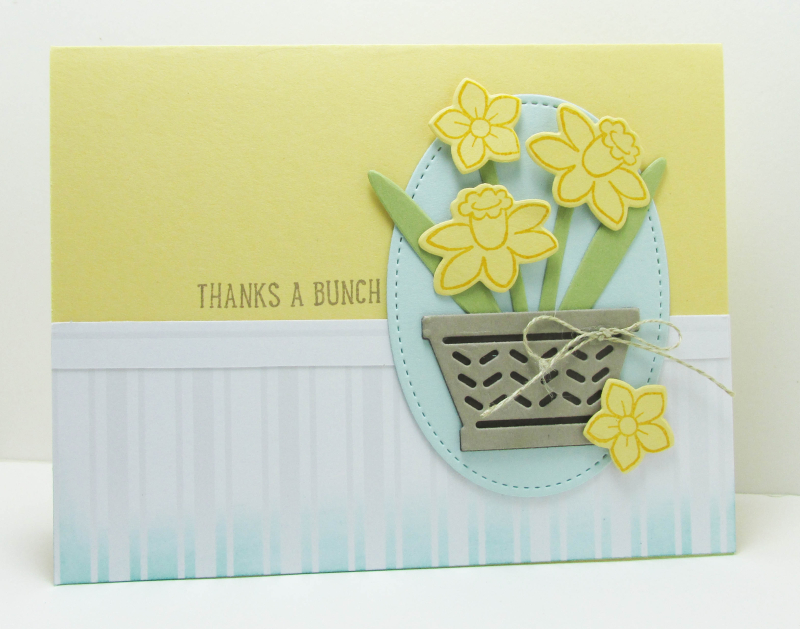 Basket Bunch daffodil mothers day flowers punch art cards Stampin Up Lyssa