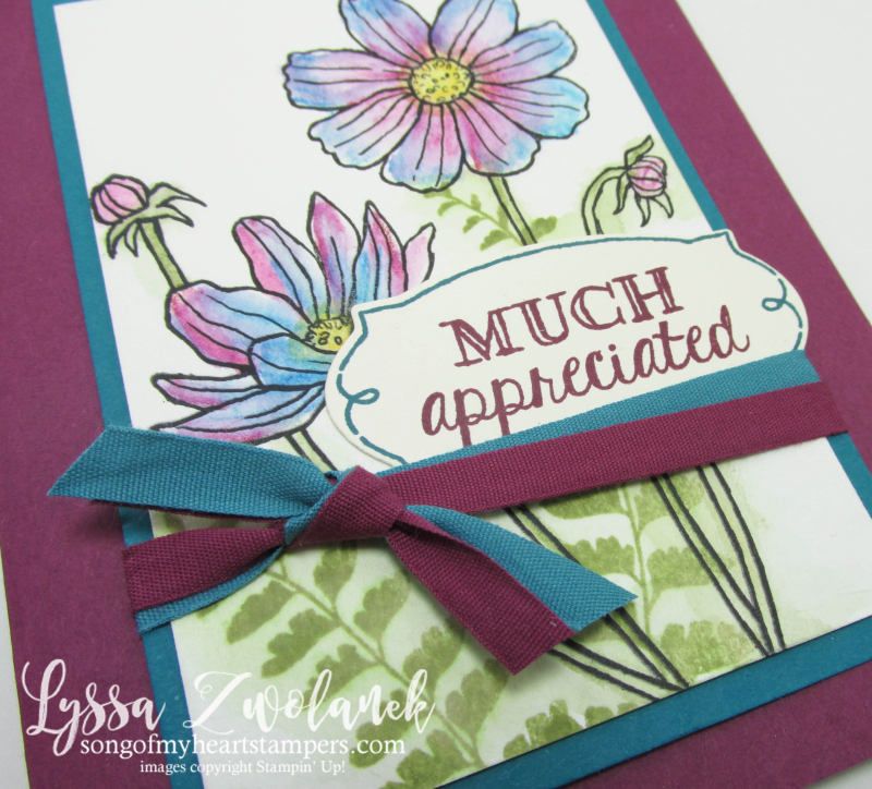 Helping Me Grow Stampin Up rubber stamps cardmaking floral watercoloring techniques