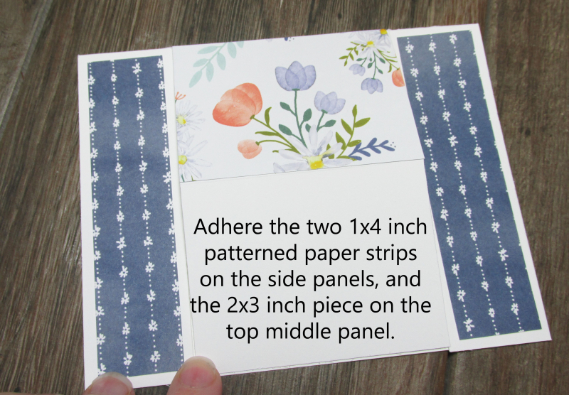 Daisy Delight Easy Desktop Standup card tutorial patterned paper free Song My Heart Stampin Up