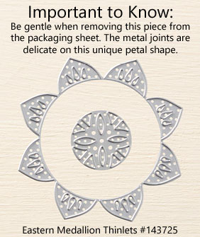 Eastern Medallions Thinlet Instructions