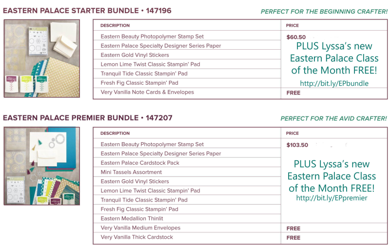 Eastern_Palace offer class  bundle stampin up Lyssa
