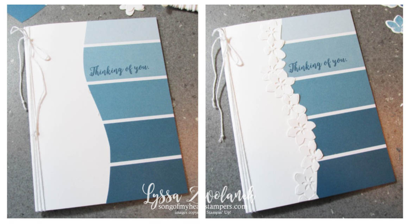 Color theory clean simple floral border wave card Stampin Up with Lyssa