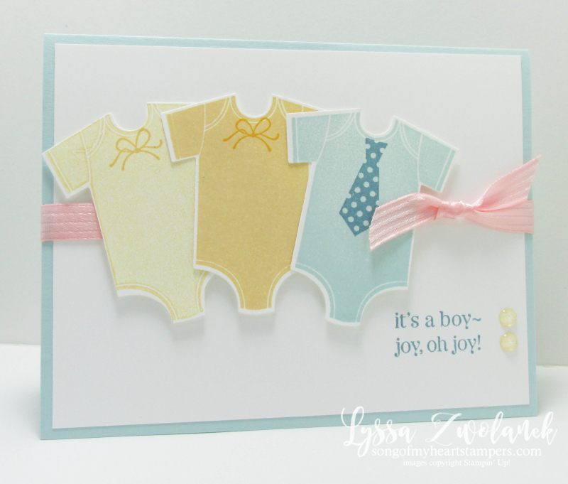 Something for Baby onesie card framelits sizzix Stampin up shower Lyssa new sale