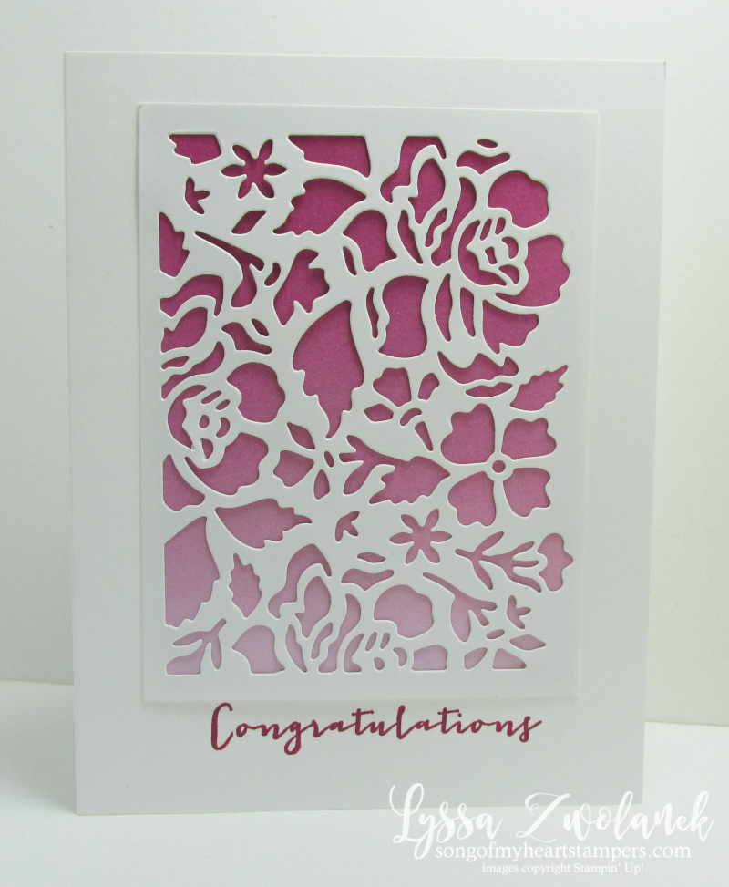 Timeless Love anniversary card Stampin Up Color Theory Papers ombre Floral Detailed Thinlet