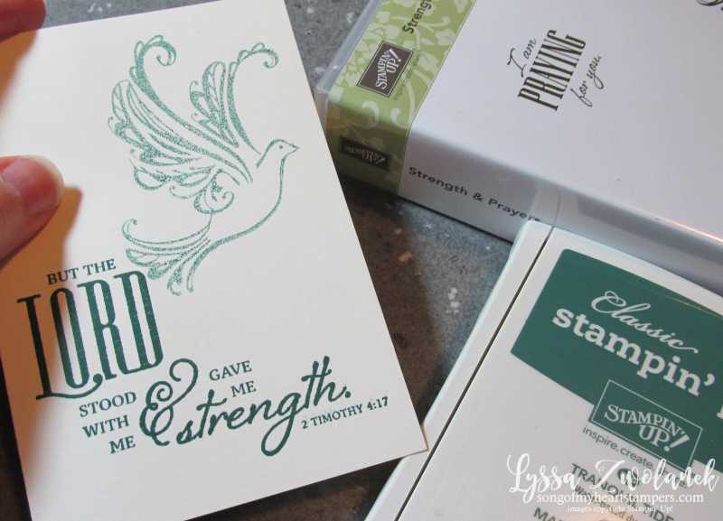 Strength and Prayers stampin up Scripture stamp set dove verse praying for you Bible Lyssa
