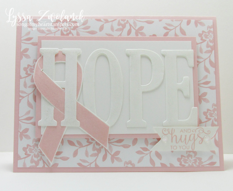 Ribbon of Courage Class of the Month Lyssa Stampin Up breast cancer pink awareness stamp