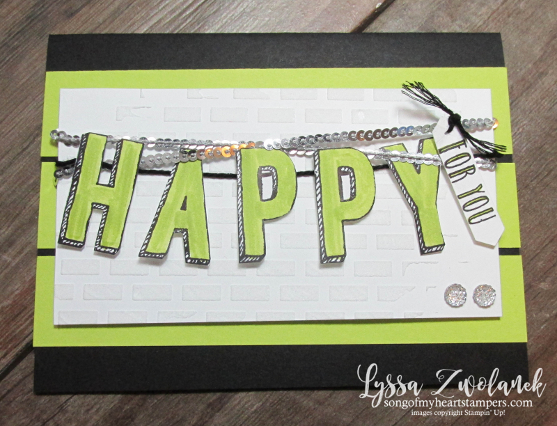 Happy Celebrations embossing paste congrats banner cards Stampin Up techniques stamping