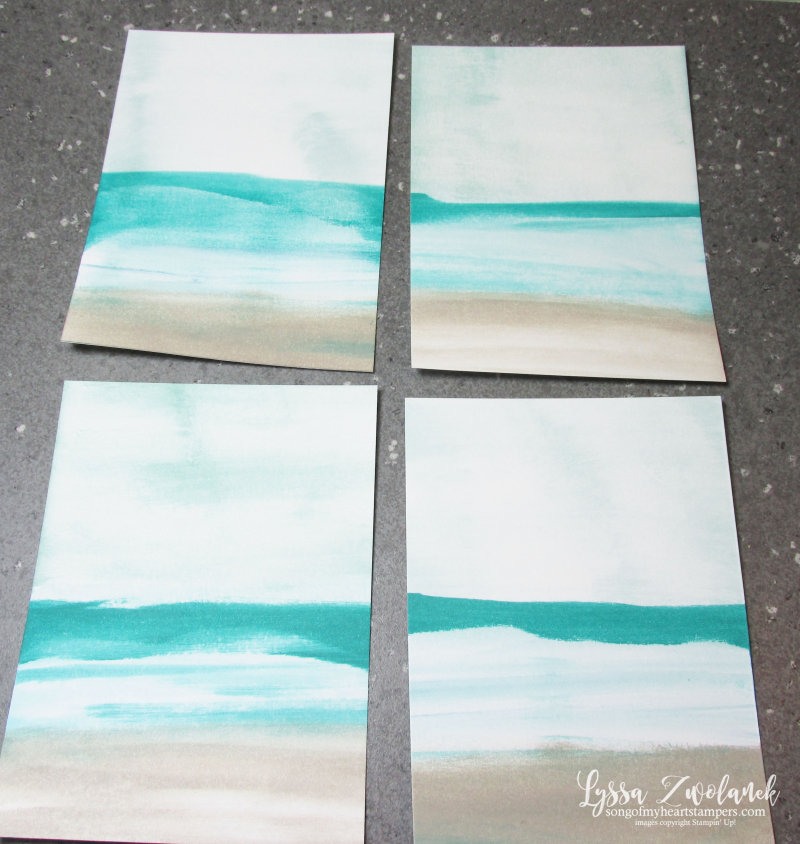Sandy Beach technique sand glue baby wipes wave Just Breathe Stampin Up free tutorial