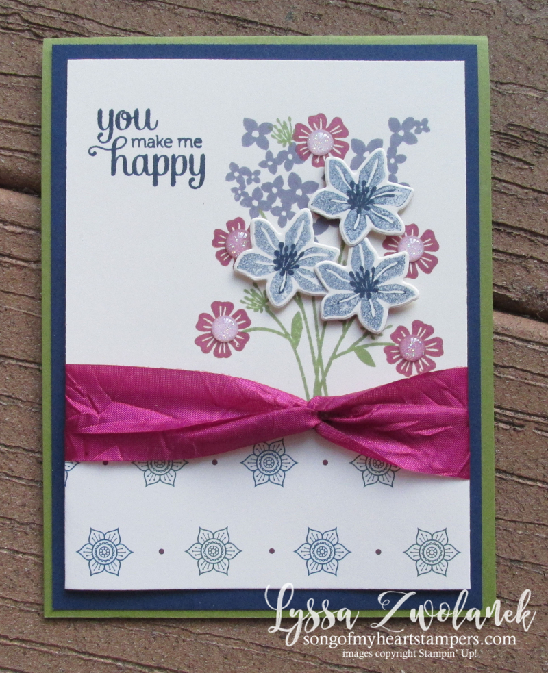 Beautiful Bouquet Flirty Flowers framelits thinlets stampin up floral stamp set tutorial cardmaking rubber stamps