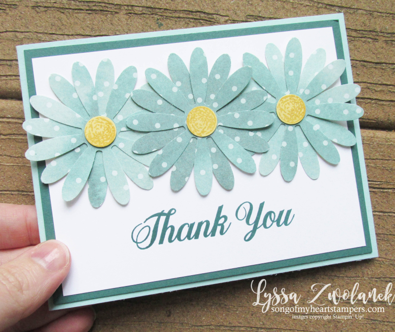 Delightful Daisy Punch Bundle Stampin Up shop Lyssa polkadot rubber stamps art
