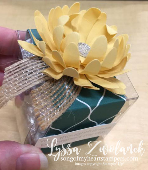 Daisy Punch Art Lily Pad lilypad Stampin Up flower punches Lyssa