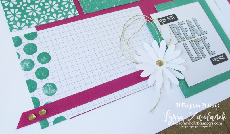 31 pages days scrapbooking summer school spread layout pages daisies daisy punch bundle stampin up Lyssa