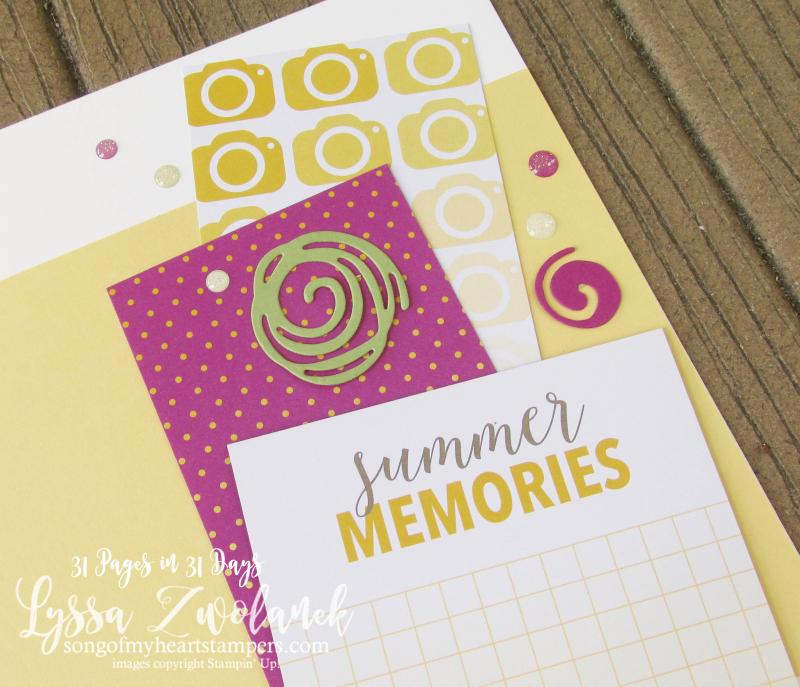 31 pages days scrapbooking summer school Stampin Up sunshine summertime memories layout scrapbook spread