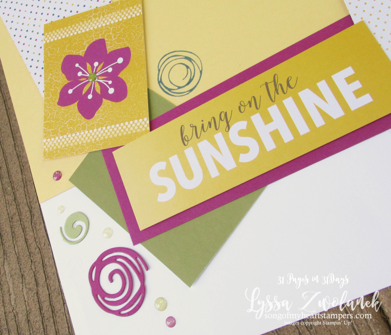 31 pages days scrapbooking summer school Stampin Up sunshine summer sunny days  layout scrapbook spread