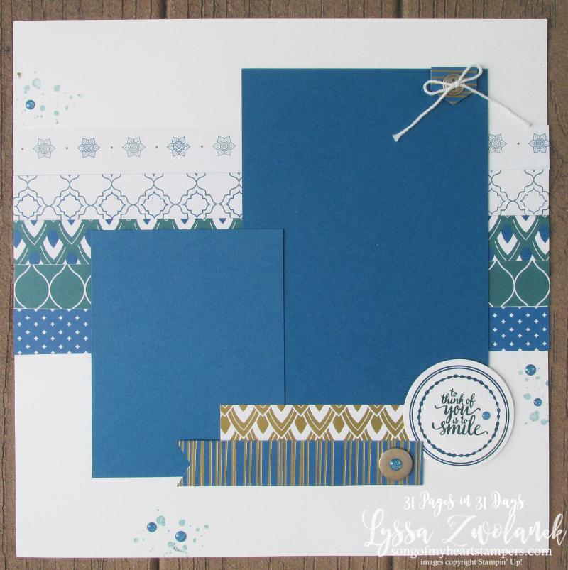Summer School Scrapbooking Eastern Elegance Palace Medallion scrapbook layouts sketch stampin up shop Lyssa