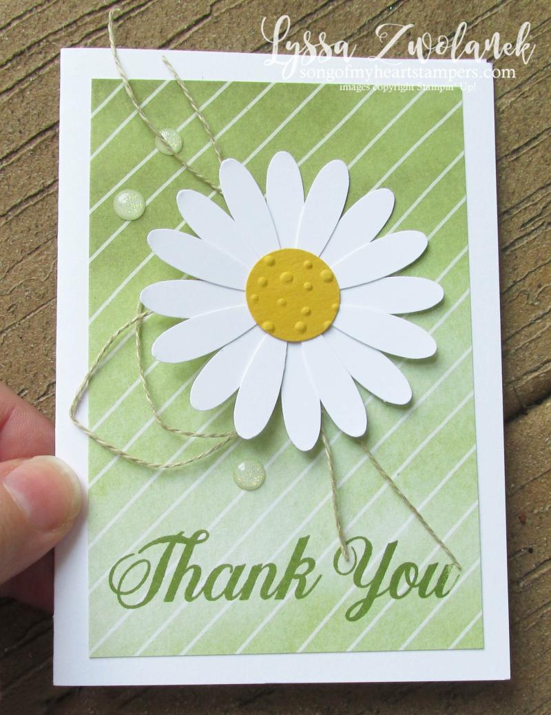 Daisy delight notecards envelopes stampin up punch art techniques Lyssa