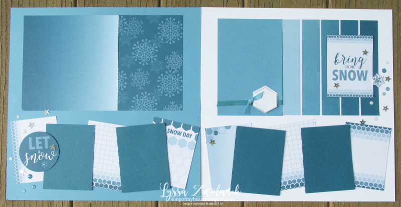 Let it Snow Christmas snowman stampin up color theory 31 pages days scrapbooking layout Lyssa