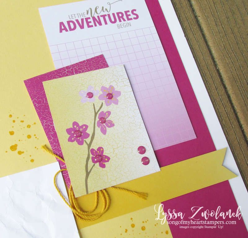 Memories more pocket traditional stampin up card scrapbook color theory layout Lyssa pages