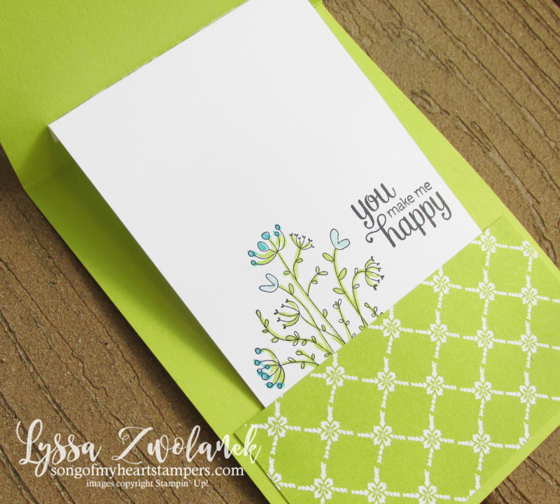 Flirty Flowers new stampin up catalog lots labels pull up big shot lemon lime twist