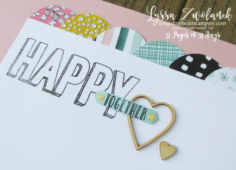 31 days pages happy together stampin up layout scrapbooking summer school Lyssa
