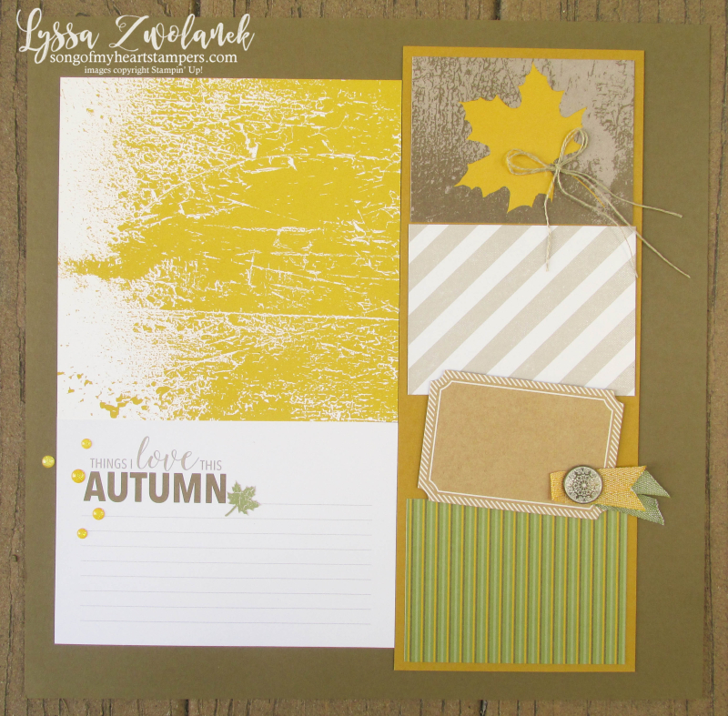 Autumn Leaves Color Theory Memories More Stampin Up fall scrapbooking 31 pages days Lyssa