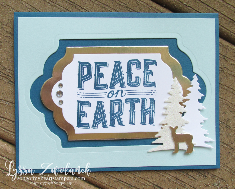 Carols of Christmas bundle stampin up Lyssa holiday DIY cards ornaments deer peace music