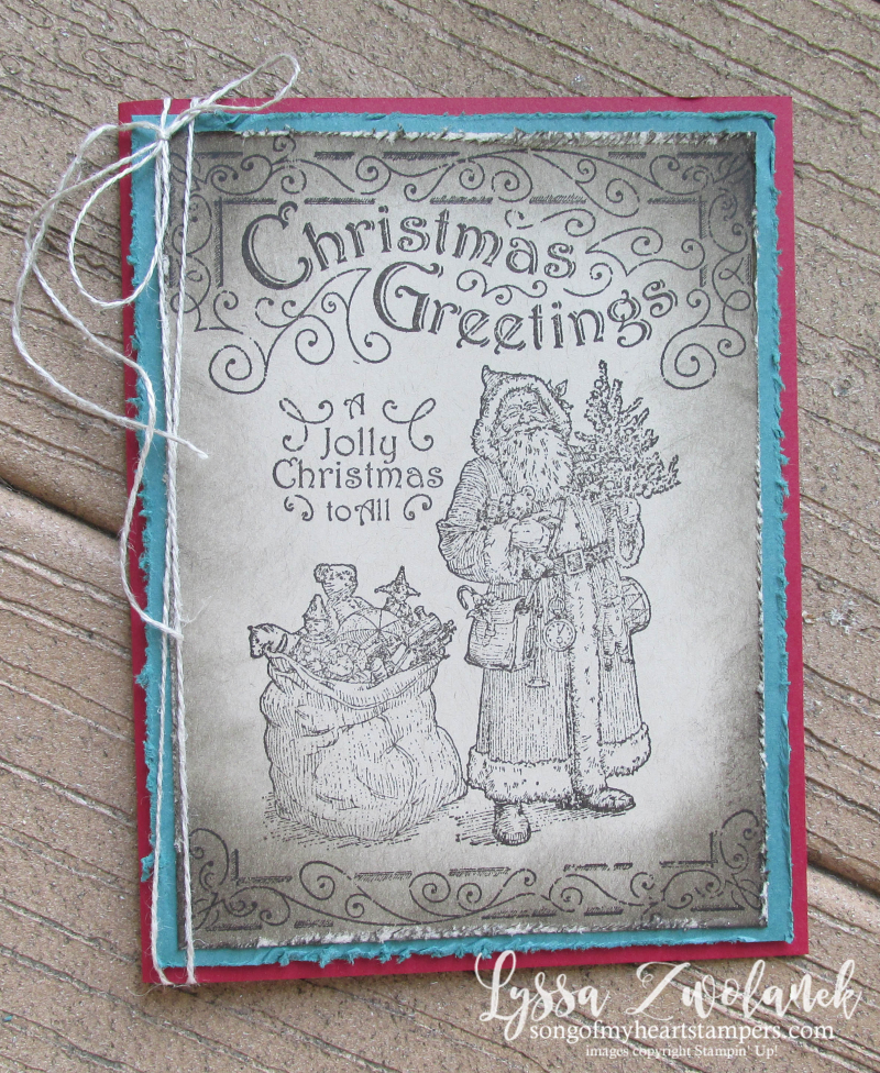 Christmas Club Stampin Up Lyssa Father Christmas holiday cards