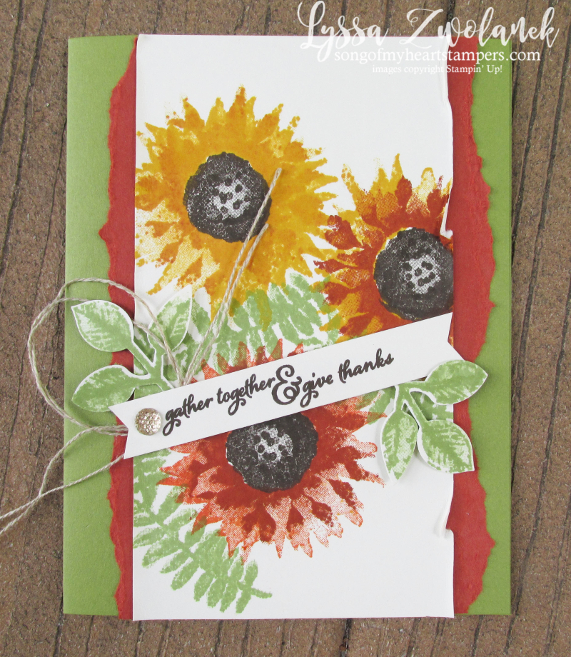 Painted Harvest Class Month Stampin Up Lyssa acorns autumn thanksgiving sunflowers leaf punch