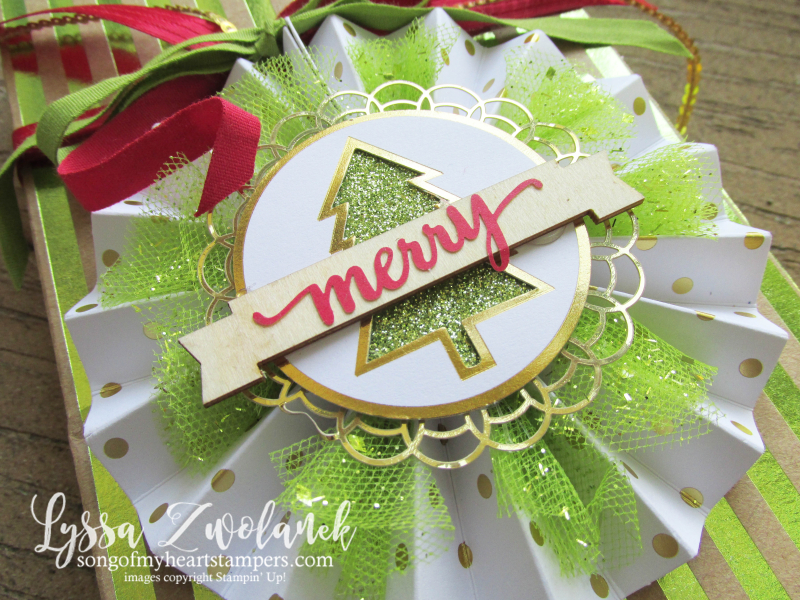 Be Merry holiday ornament stampin up kit Lyssa DIY Christmas packaging home decor