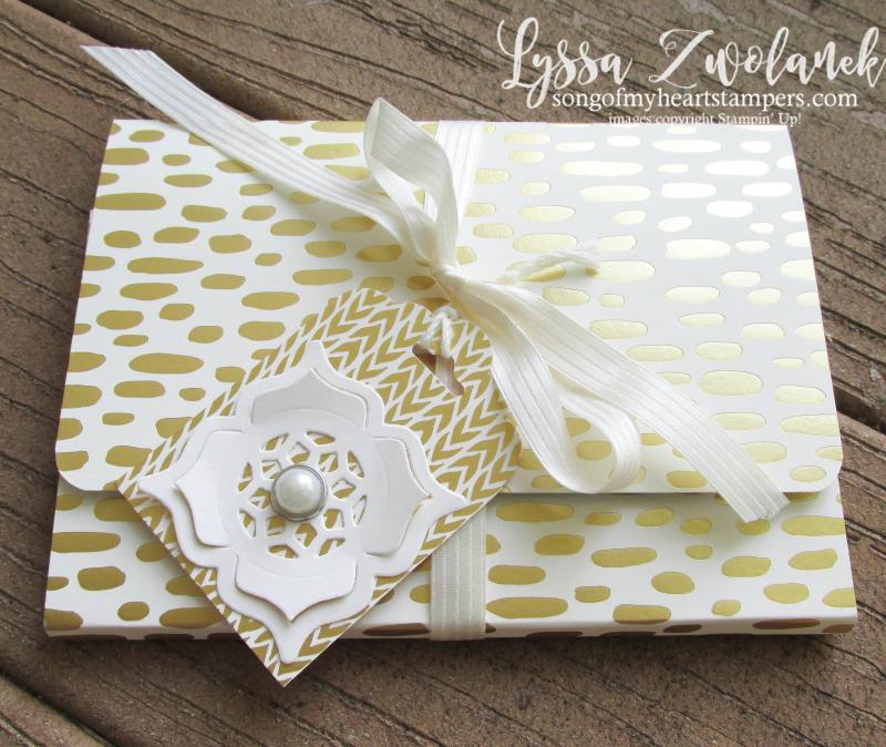 Envelope Pocket Stationery Holder notecards Lyssa Stampin Up convention DIY cardmaking