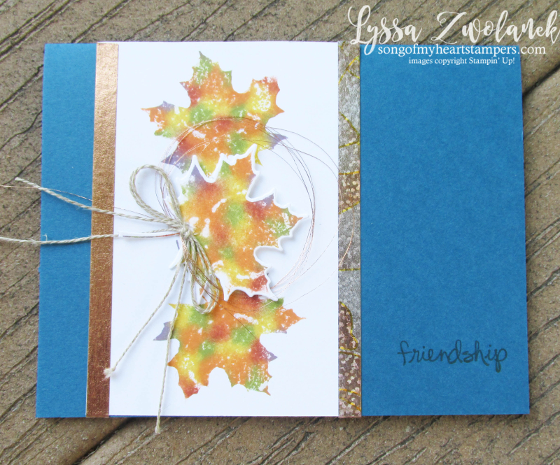 Baby wipe technique tutorial fall leaves card autumn DIY stampin up