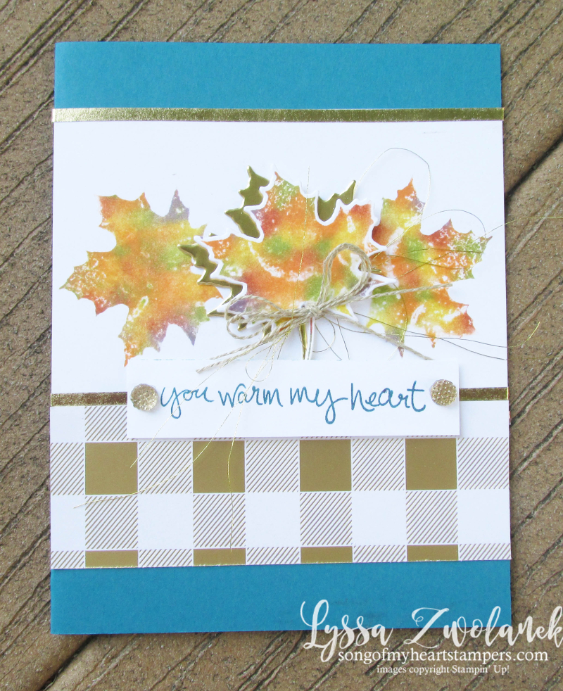 Baby wipe technique tutorial fall leaves card autumn sizzix stampin up