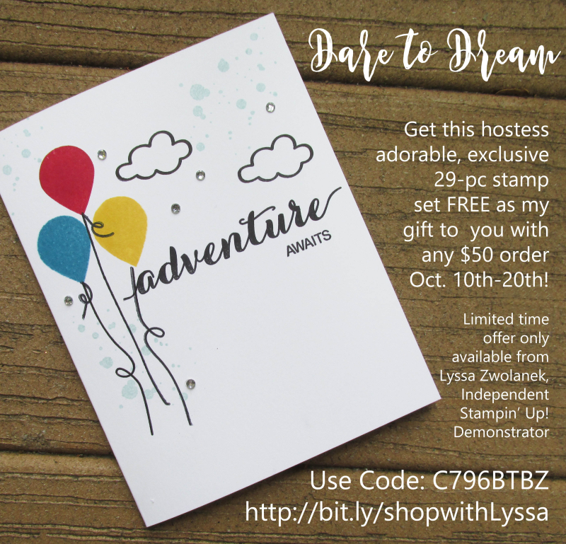 Dare to Dream adventure awaits hostess exclusive stamp set Stampin Up