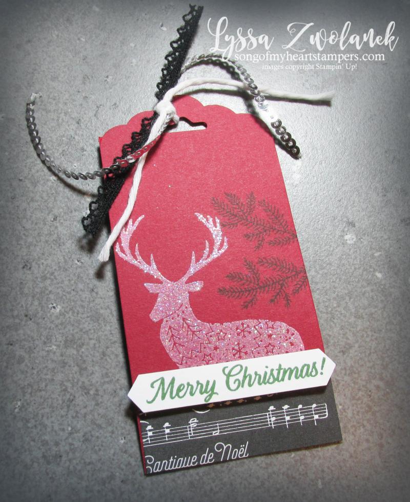 Merry Patterns Christmas stamp set free stampin up hostess Lyssa holidays card