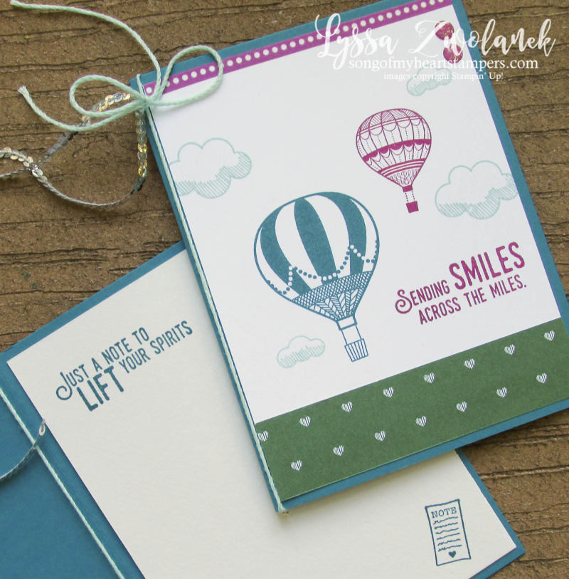 Lift Me Up hot air balloon ride sending smiles miles embossing paste cloud stencil cloud Stampin Up
