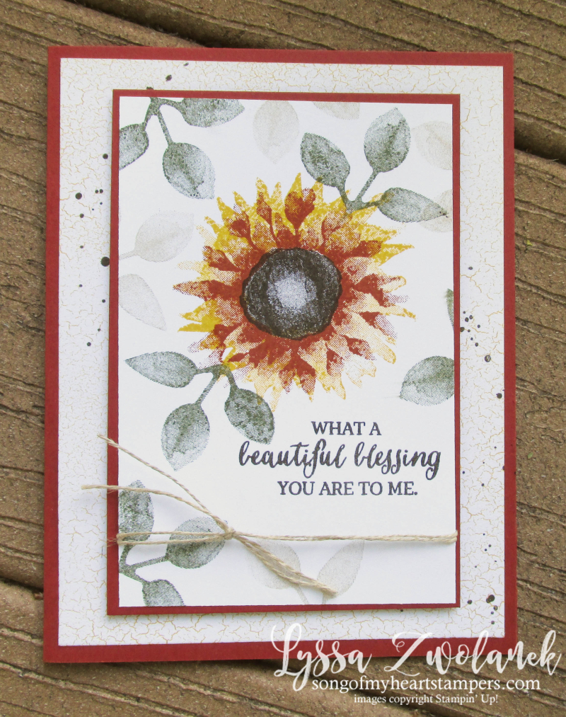 Painted Harvest sunflowers sunflower Stampin Up beautiful Blessing rose wonder autumn Lyssa