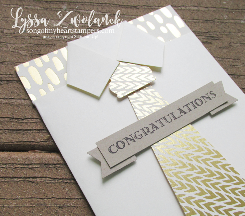 Shirt and tie congratulations card bundle love gold foil papers stampin up