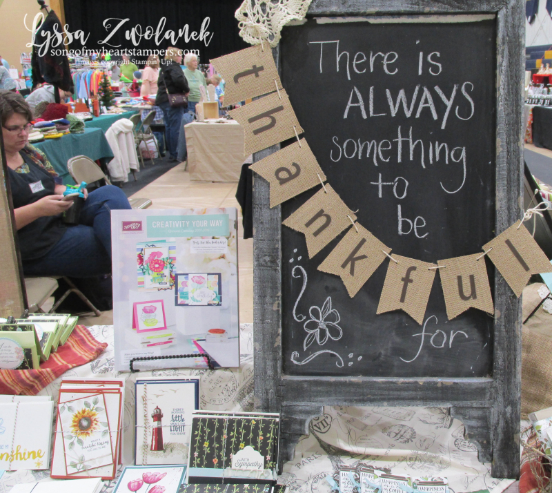 Craft fair display best sellers Stampin Up Lyssa show vendor 9