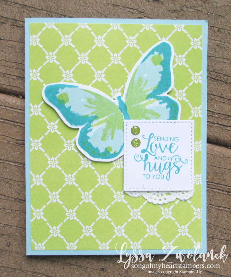 Butterfly Bold pop up card stampin up sizzix framelits butterflies