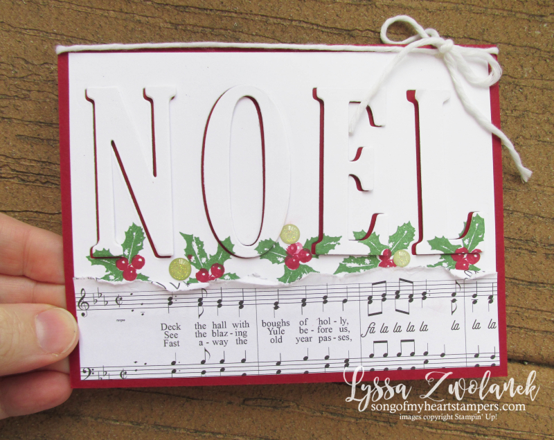 Eclipse card technique noel Christmas cards holiday DIY cardmaking Stampin Up Lyssa holly berries