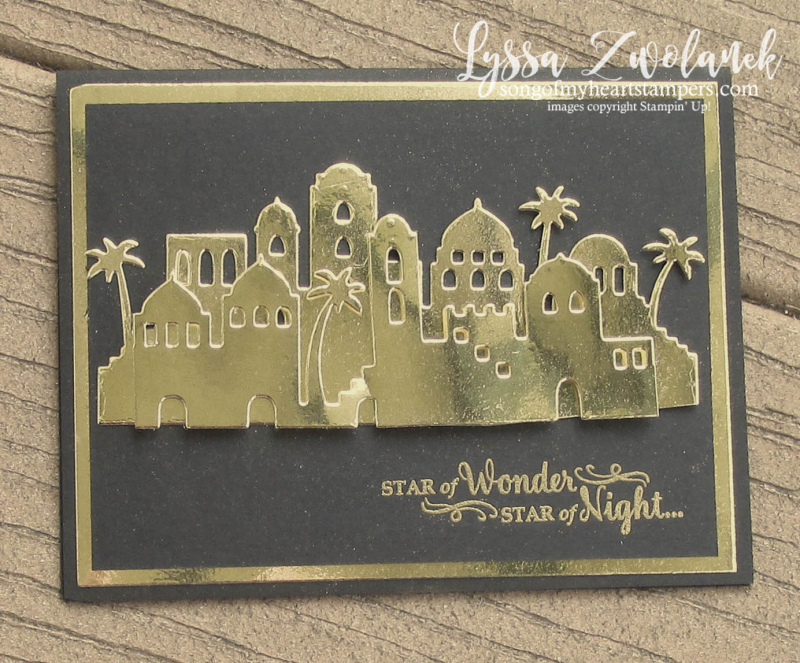 Bethlehem Edgelits thinlets night skyline stars Stampin Up christmas gold stamps Shop Lyssa