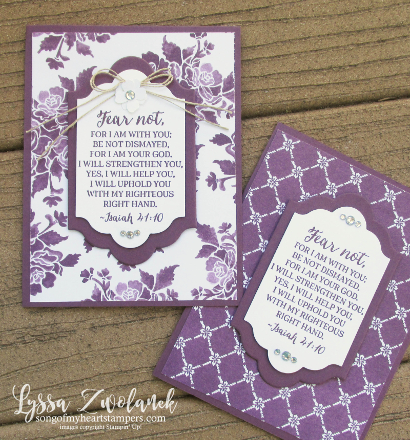 Fresh Florals paper Stampin Up scripture verse cards Rose Wonder Lyssa Lots Labels