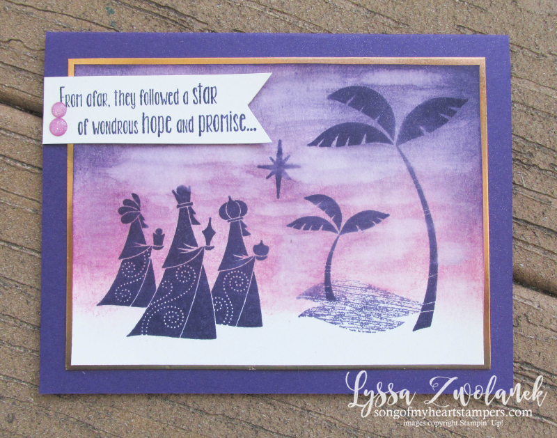 Wise Men from afar Stampin Up bethlehem watercolor Christmas star DIY cards rubber stamps