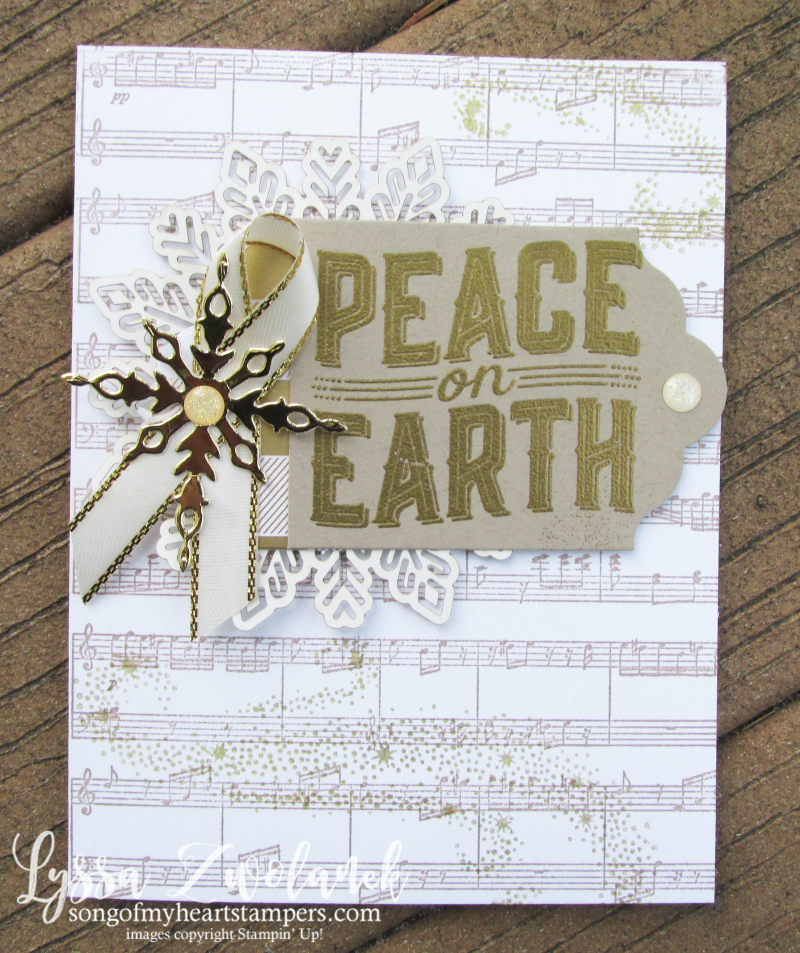 Peace on earth carols Christmas holiday cards deck halls Lyssa cardmaking sheet music stampin up