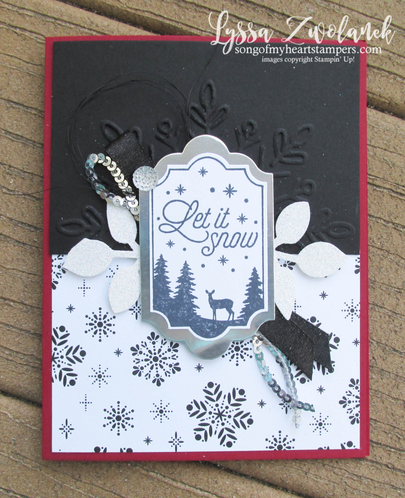 Merry Little Labels everyday label punch stampin up snowflake deer let it snow card